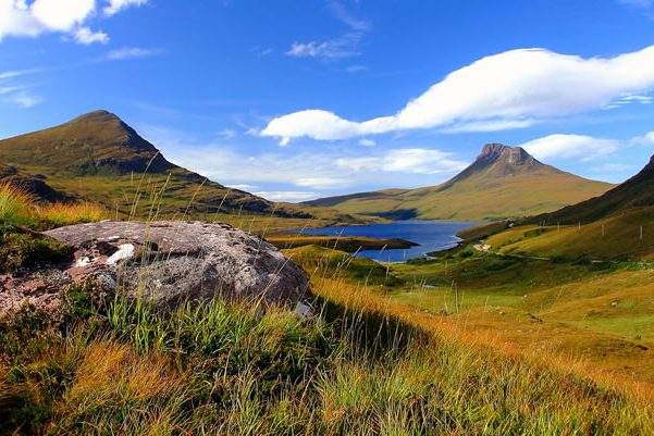 On the shores of Lochinver, on the north west coastline of the Scottish Highlands